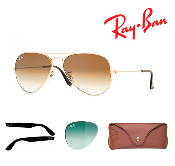 Spare parts Ray-Ban Glasses