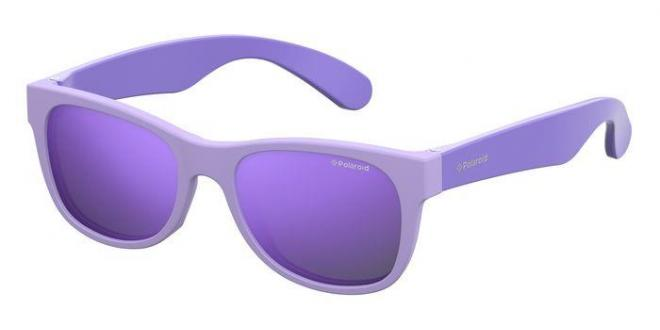 Polaroid Jungen Sonnenbrille P0300-MZ9, Violett (Mtdklilac), 42