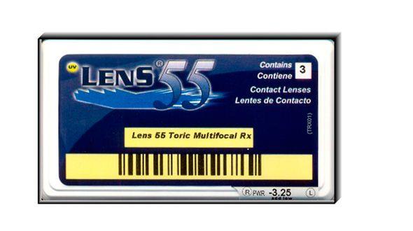 Lens 55 Multifocal Toric RX (3 Lentillas)