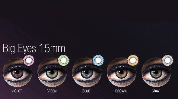 Lentilla de color Anual Big Eyes Fashion